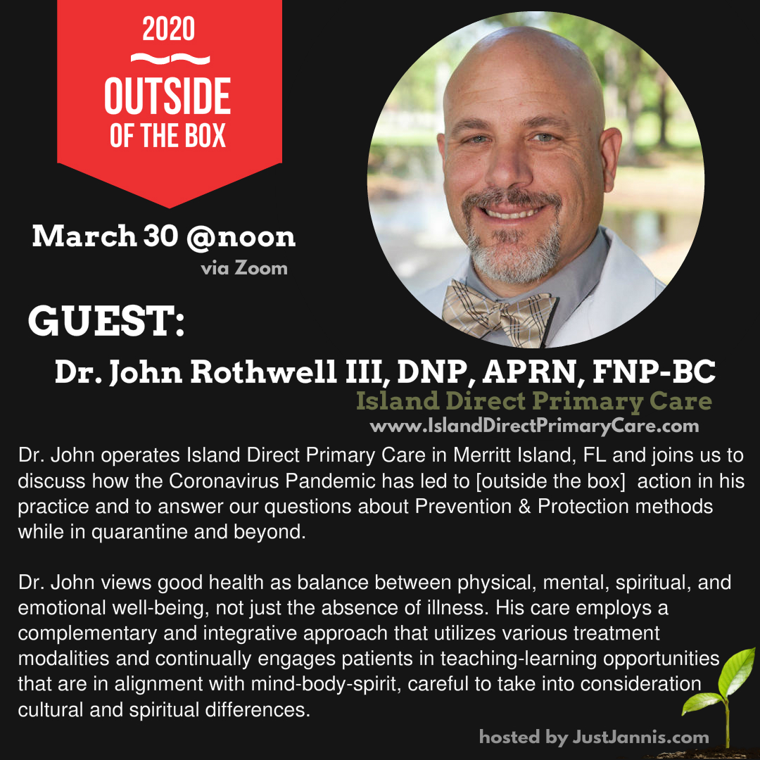 Live discussion with Dr. John Rothwell III, FNP
